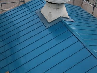 足立区の工場屋根葺き替え工事施工後AFTER
