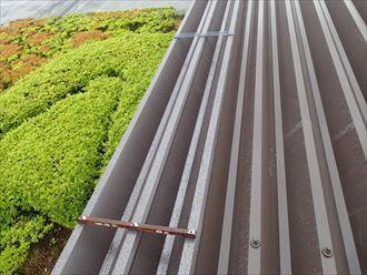 多摩市 折板屋根張替え補強