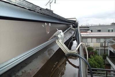 【雨樋交換工事、エスロン H-120】|【目黒区 東山】