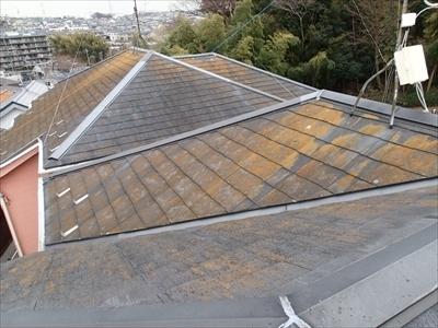 渋谷区で棟板金点検。風害により火災保険適用。
