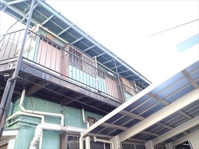 【波板トタン 雪止め】中野区 アパート