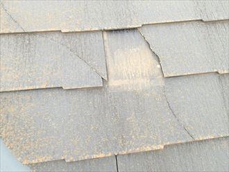 大田区 割れた箇所の屋根材