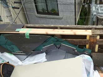 腐食した部分の木材の交換