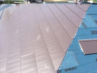 調布市 屋根材設置状況
