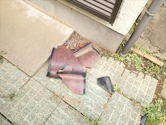 町田市 瓦の破損