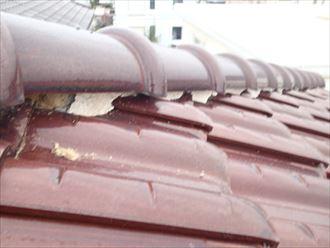 足立区 棟瓦の調査