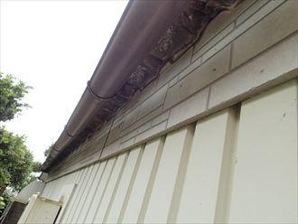 大田区 折板屋根の屋根先