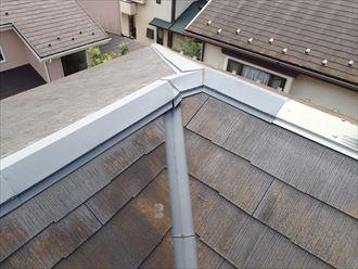 苔むしたスレート屋根