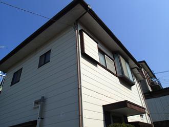 台東区 屋根葺き替え工事前の点検 建物の外観
