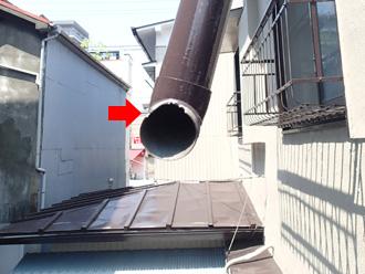 新宿区 外れた箇所は破損しているの部材ごと交換が必要