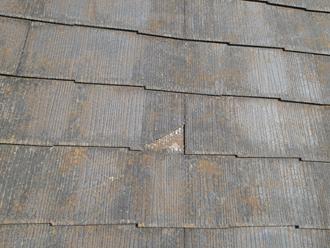 屋根スレートの割れ
