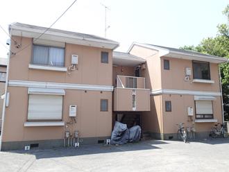 東京都北区 アパートの屋根塗装前の点検