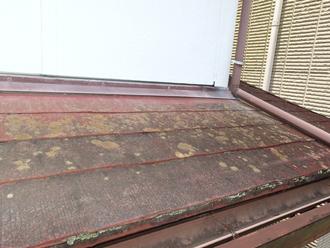 下屋根劣化の状態