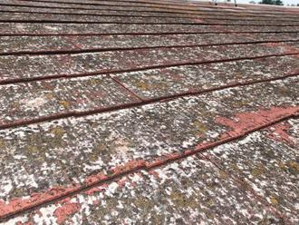 大屋根スレート劣化
