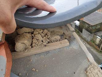江戸川区 瓦桟の破損