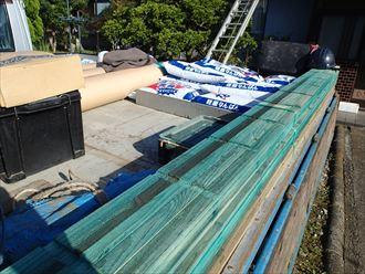 足立区 防腐材入り瓦桟