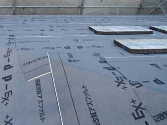 東京都北区 屋根葺き替え工事 防水紙設置