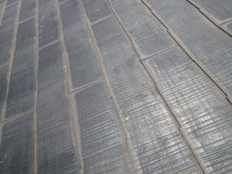 スレートの塗膜の劣化