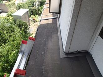 板橋区 屋根葺き替え前の点検 下屋の調査