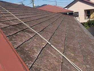 千代田区 苔の生えたスレート屋根