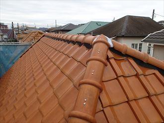 棟とり直しでキレイになった屋根