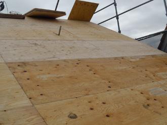 墨田区 屋根葺き替え工事 野地板の交換
