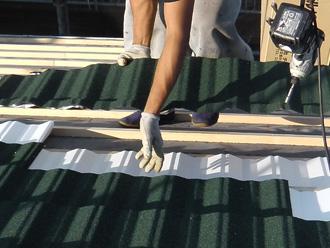 墨田区 屋根葺き替え工事 エコグラーニ設置