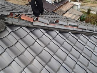 葛飾区 瓦の落下の危険性