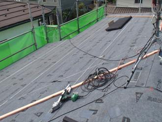 墨田区 屋根カバー工法 ルーフィング