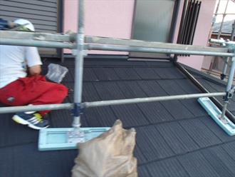 墨田区 屋根カバー工法 屋根材設置