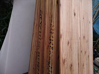 江東区でパラペットの屋根葺き替え工事、新しいコンパネ