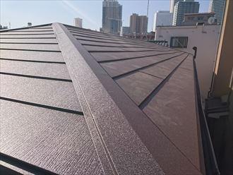 足場解体、屋根仕上がり