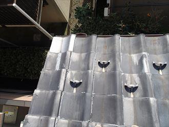 瓦屋根からコロニアルクァッドへ屋根葺き替え、瓦屋根にラバーロック工法