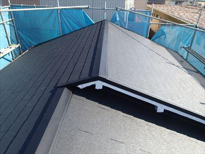 江東区でパラペットの屋根葺き替え工事の施工後写真施工後AFTER