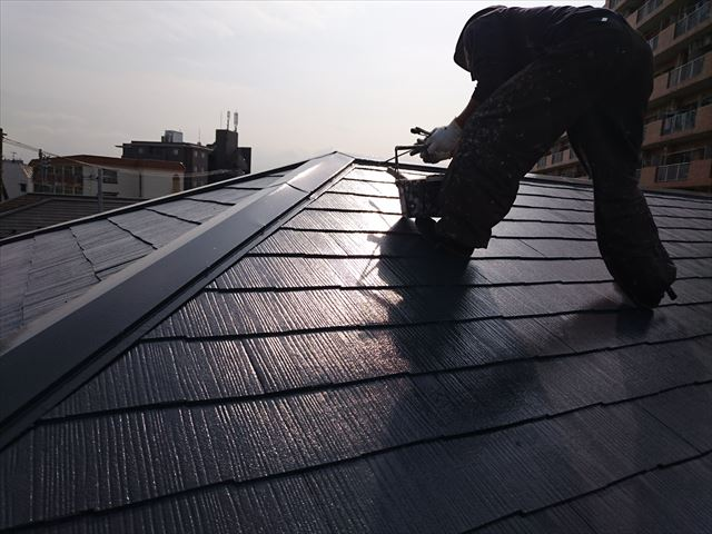 江戸川区アパート屋根塗装確認大001