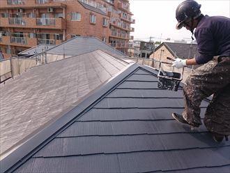 江戸川区アパート屋根塗装確認002