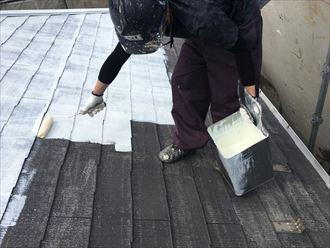 江戸川区アパート屋根塗装006