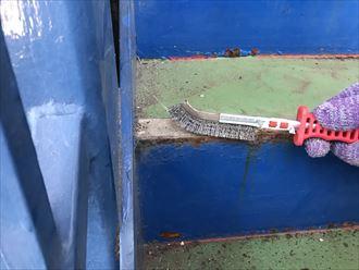 江戸川区鉄階段錆とウレタン防水004