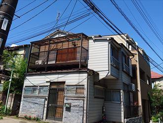 葛飾区|雨漏り発生に伴いラバーロック工法を施工した瓦をコロニアルへ葺き替え、お住まいの外観