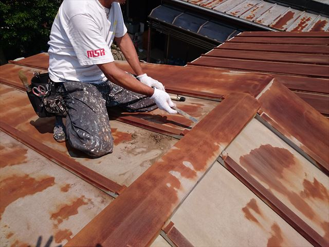 葛飾区トタン屋根塗装大001