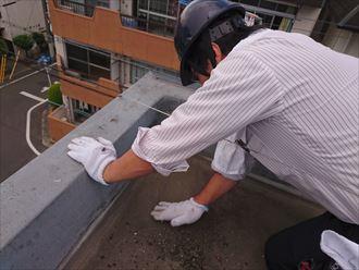 足立区ビル雨漏り原因調査003