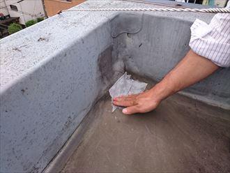 足立区ビル雨漏り原因調査004