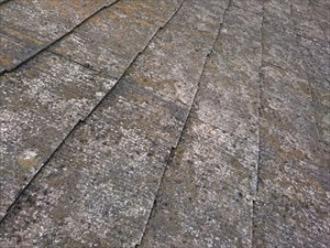 雹に降られたスレート屋根3