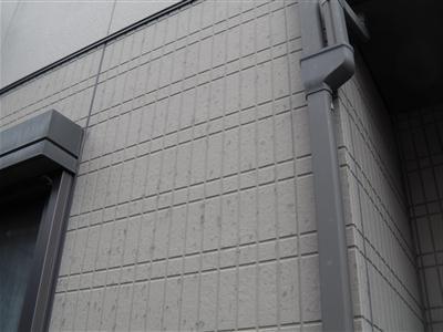 外壁の雹跡
