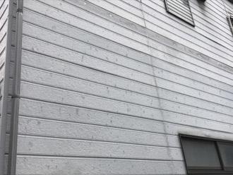 外壁についた雹痕