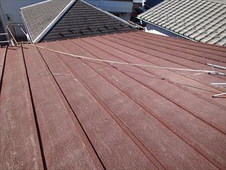 屋根カバー工法,施工前