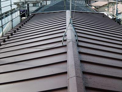 屋根葺き替え工事,さざなみ,縦平