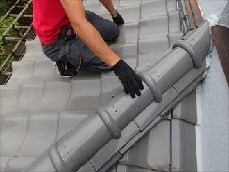 葛飾区瓦屋根葺き替え工事