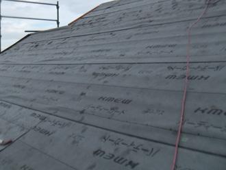 葛飾区 屋根カバー工法 防水紙を設置