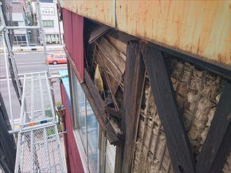 中央区トタン外壁台風被害004